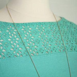 GAP Dresses - Gap Teal Green Eyelet Summer Dress